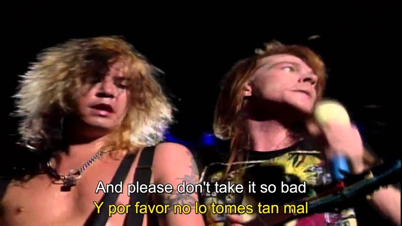 Guns N' Roses Don't Cry Live 1992 HD Subtitulada
