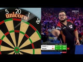 Adrian Lewis vs Cristo Reyes (PDC World Darts Championship 2020 / Round 2)