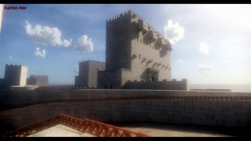 Il Castello Eurialo di Siracusa ricostruzione 3d immagini The Eurialo greek castle in Syracuse