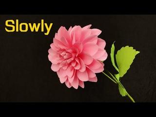 ABC TV | How To Make Dahlia Paper Flower (Slowly) - Craft Tutorial