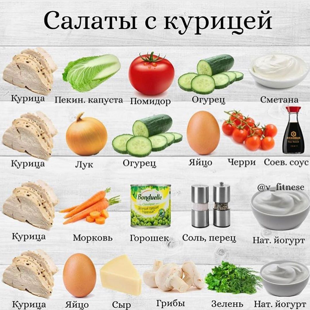 Подборка быстрых и вкусных салатов