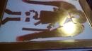 4 Золочение на полимент сусальным золотом . Мерная икона архангела Михаила .