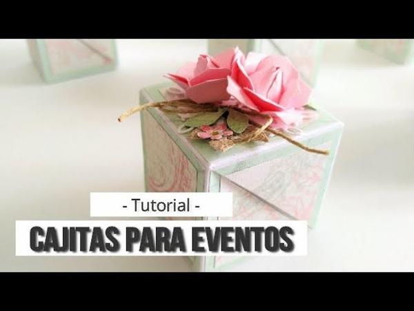 CAJITAS PARA EVENTOS. ABERTURA DIAGONAL - TUTORIAL | LLUNA NOVA SCRAP