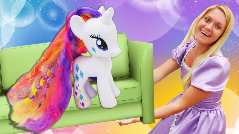 Os My Little Pony se mudam para o castelo mágico Contos de fada da Princesa Sofia para crianças