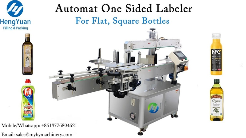 Automatic One Sided Labelling machine for 5 liter seasoning PET bucket one label applicator