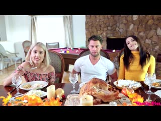 Avi Love, Paisley Bennett. Thanksgiving Is For Creampies. Porn|Порно|Секс втроем|Молодые