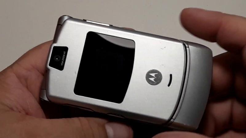 Motorola Razr V3 Silver. Ретро телефон. Hello MOTO. Retro Telefon aus Deutschland. Капсула времени