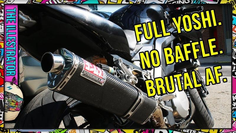 SV1000 Yoshimura Full Exhaust w Acceleration No Baffle