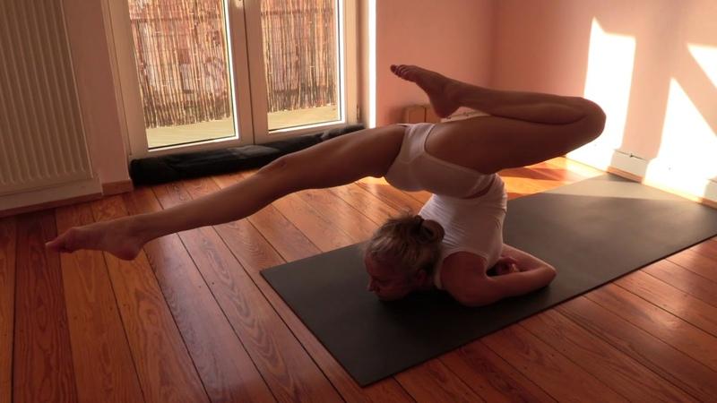 Yoga demonstration - flexibility, strength, balance and lightness