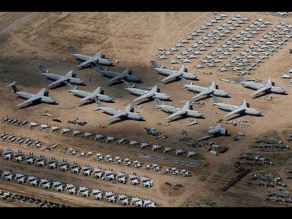Брошенный военный арсенал богом забытый аэродром
