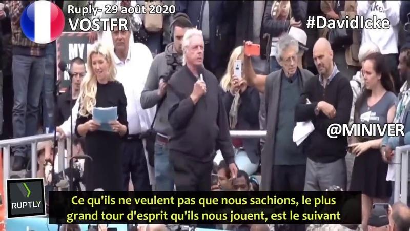 VOSTFR Discours de David Icke lors du rassemblement Sunir pour la liberté Londres 29 août 2020