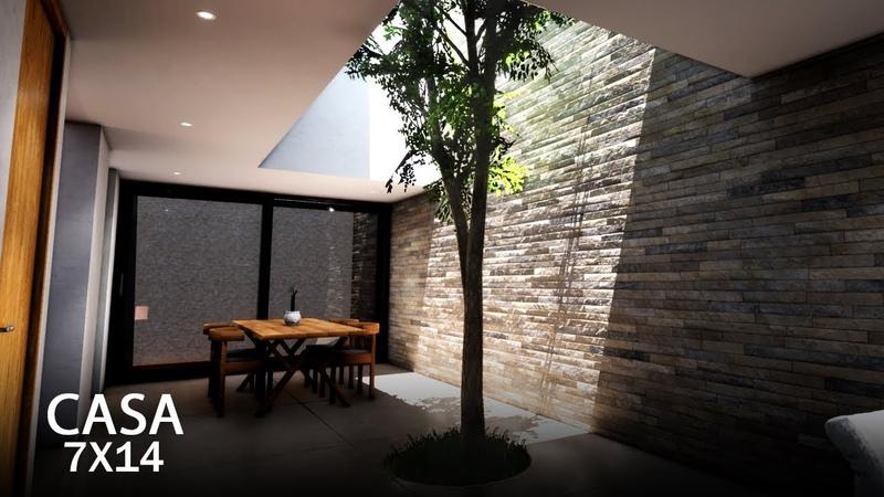 Casa 7X14 metros Casa Tadeo | planos de casas
