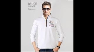 Мужская футболка поло на молнии с длинным рукавом, размер плюс, m, to3xl, 4xl, хлопок, мужская рубашка поло, модная