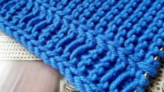 Вяжем декоративную планку с протяжками 🚩 knitting pattern.