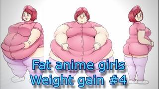 Fat anime girls weight gain #4