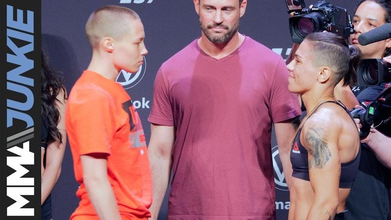 🎬 UFC237 Роуз Намаюнас и Джессика Андраде на взвешивании