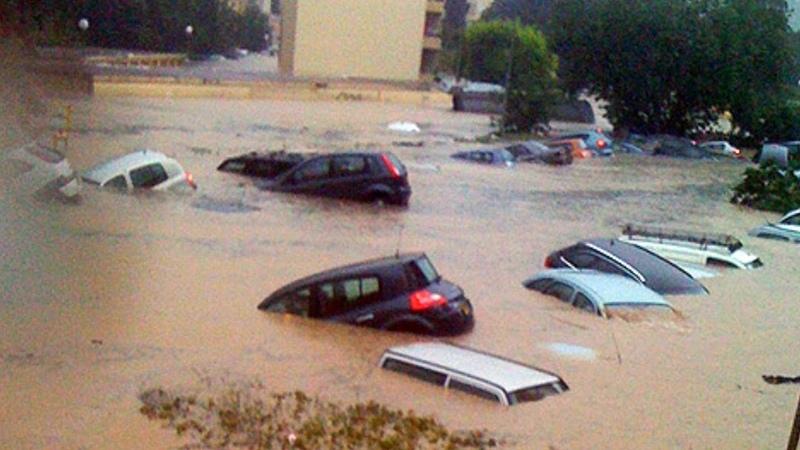 Наводнение от последствий ливней Ялта Украина