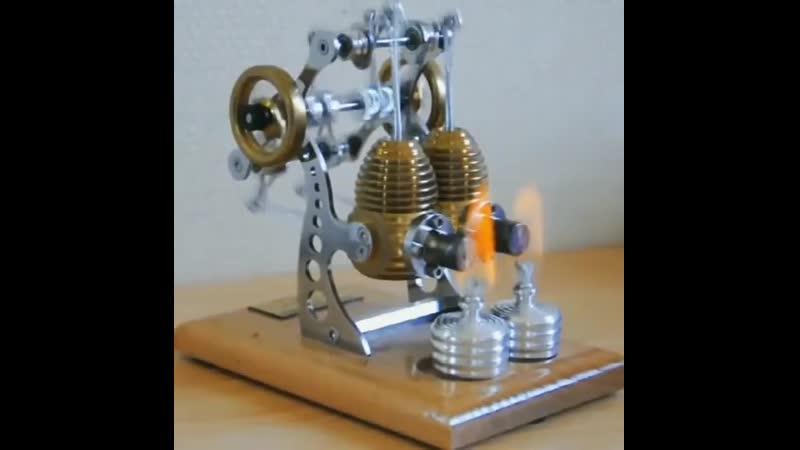 Высокоскоростной двухцилиндровый двигатель Sterling dscjrjcrjhjcnyjq lde wbkbylhjdsq ldbufntkm sterling