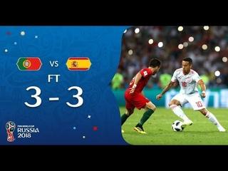 Все голы сборной Португалия - Испания 3:3.Лучшие моменты матча