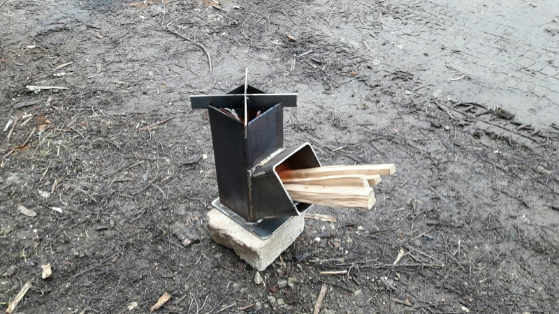 Печка ракета Компакт. Compact rocket stove.