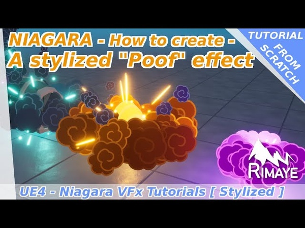 Niagara How to create a stylized POOF effect UE4 tutorials Explosion Location Event