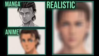 Drawing EREN JAEGER in 3 Styles [Manga, Anime and Realistic]