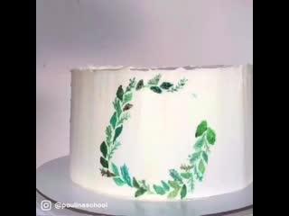 Рисуем на торте. pauline school.
