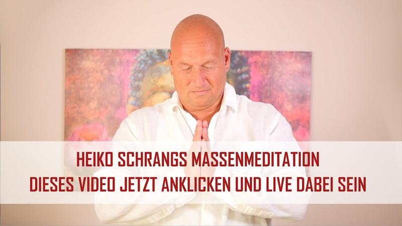 Heiko Schrangs große Massenmeditation mehrere zehntausend sind dabei