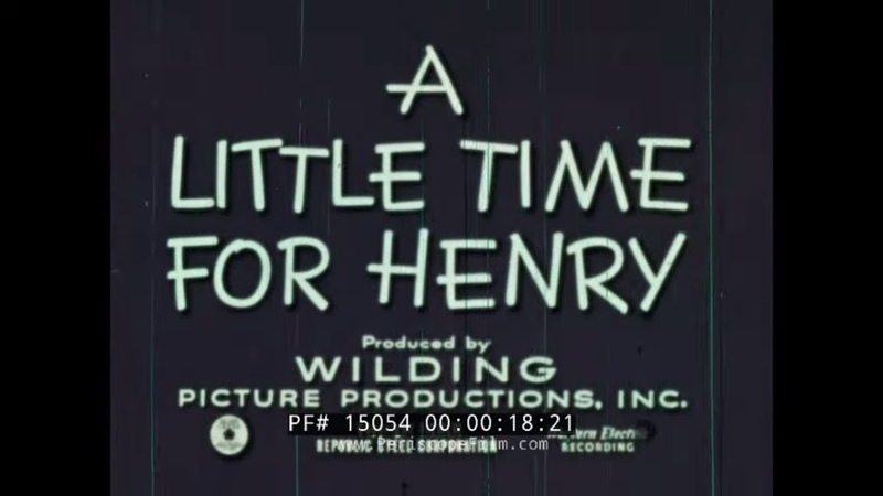 THE LITTLE TIME FOR HENRY 1950s TIME MANAGEMENT CARTOON 15054