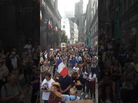 Liberté Manifestation Clermont Ferrand 18 septembre 2021