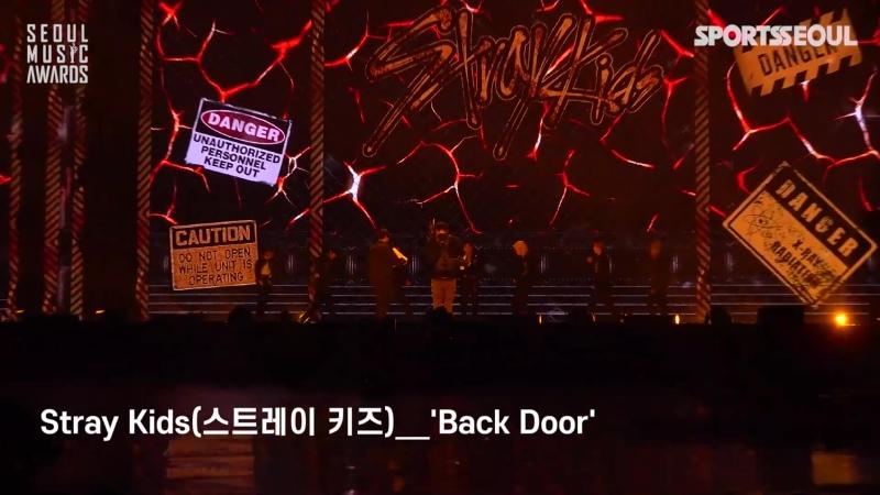 [FANCAM] 210131 Stray Kids - INTRO BACK DOOR » Seoul Music Awards 2021