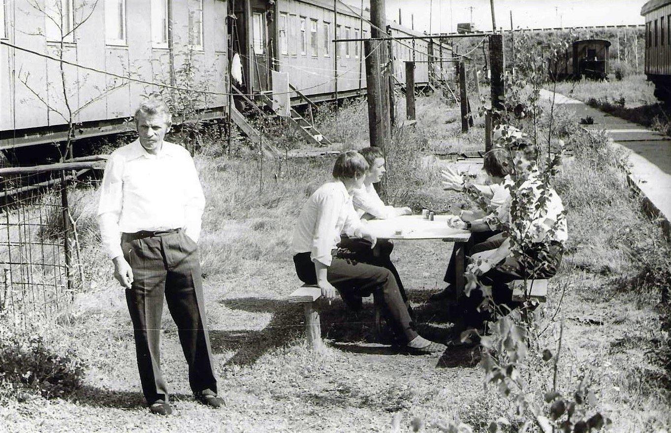 Фото 1980-ых годов, городок работников ПМС-65 на