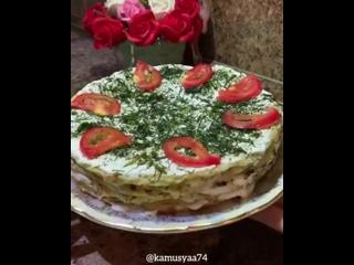 Кабачковый пп тортик