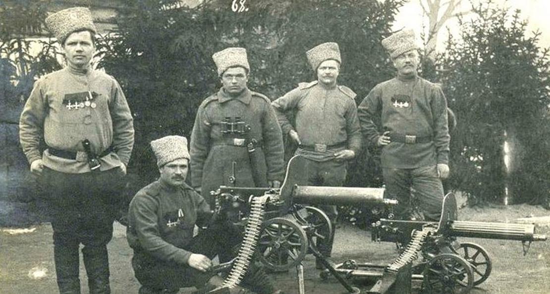 Пулемет Максим в русской армии