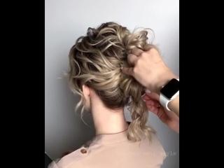 Видеоурок красивого пучка