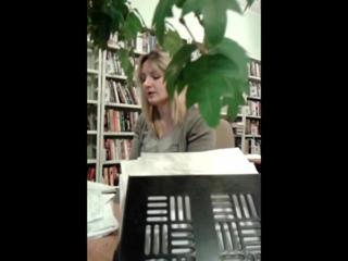 "Библио-сумерки,февраль,2017. Наталья Куманцова исполняет песню ""While the lips are still red"" группы Nightwish"
