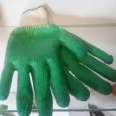 Перчатки трикотажные со 2ым латексным обливом (зел.)