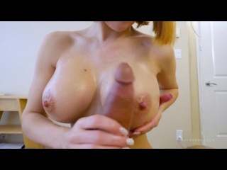 Full HD porn Katie Banks My First Titty Fuck сисястая красивая рыжая сучка дрочит парню сиськами грудастая молоденькая тёлочка