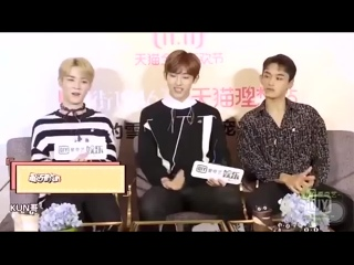 181123 iQiyi interview - Q any new signature dishes these days - Kun recently I learned a dish called .mp4