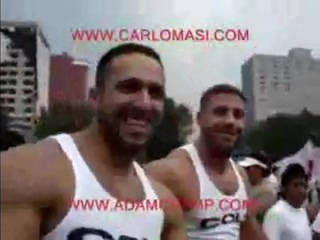 Carlo Masi and Adam Champ gay pride Mexico.