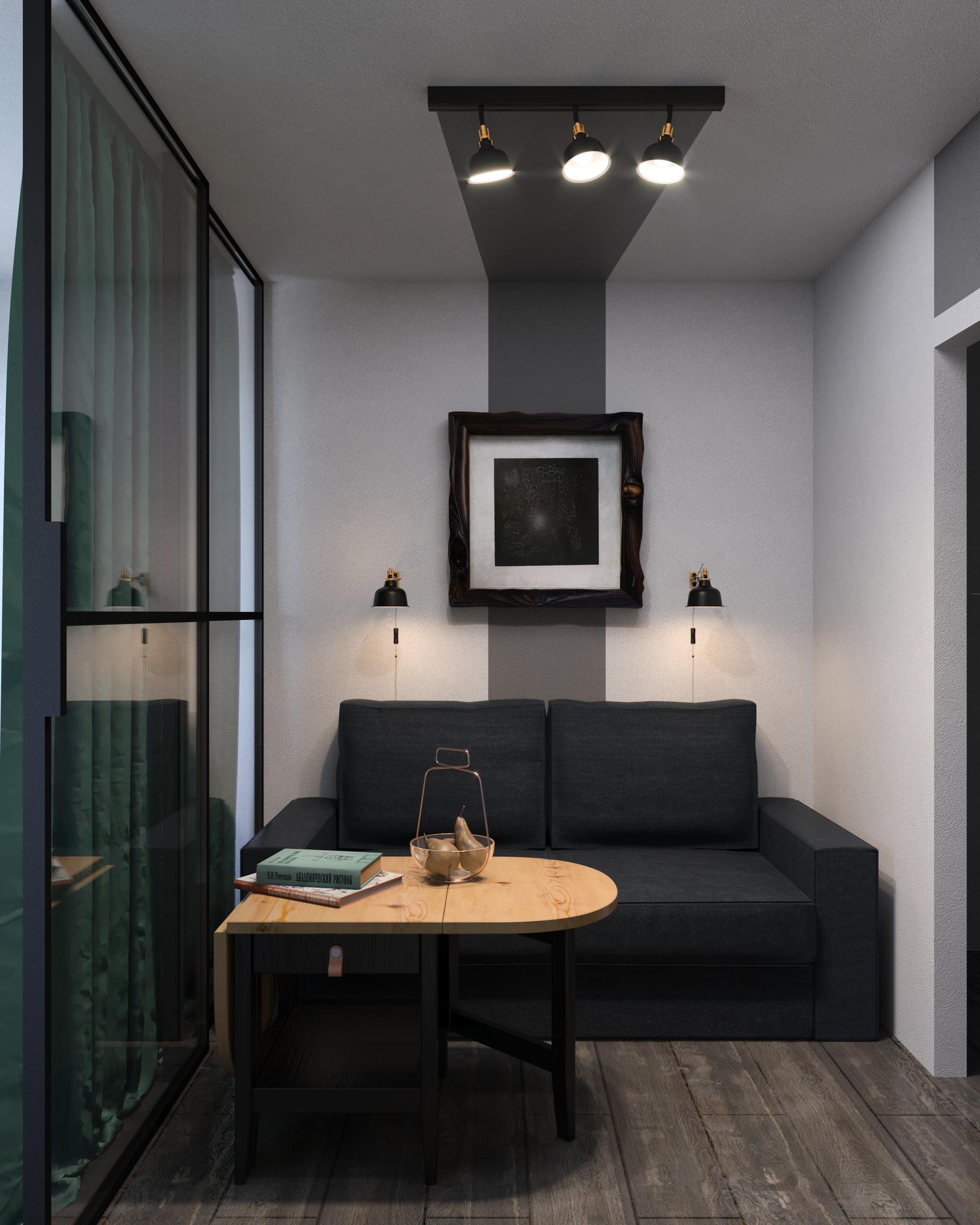 Дизайн-проект квартиры-студии 28 кВм