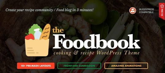 Foodbook v1.1.1 – Recipe Community, Blog Food Theme