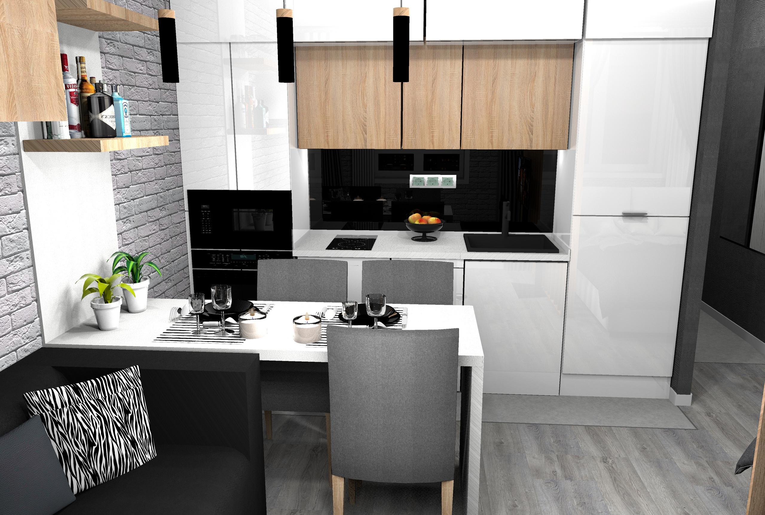 Кухня-гостиная в современном стиле, автор проекта: Чупов АV