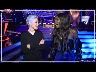 Emma Willis And AJ Odudu Catch Up Backstage! (The Voice UK 2019)