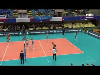 Волейбол ЛЧ женщины 1/4 финала 1-й матч Динамо Москва vs Вакыфбанк