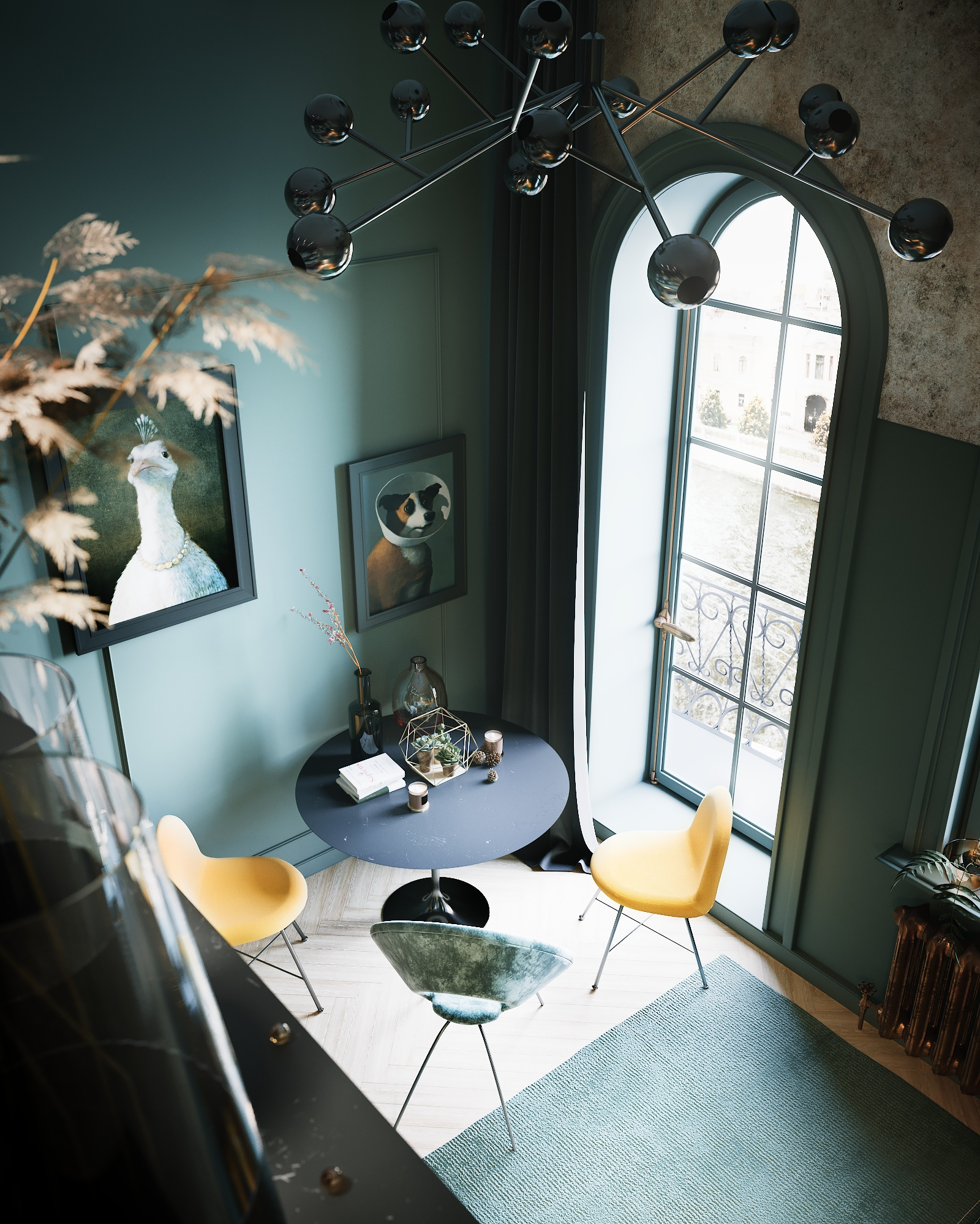 Проект двухуровневой квартиры-студии 21 м2, Санкт-Петербург.