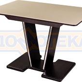 Стол обеденный  Румба ПР КМ 06 ВН 03 ВН, венге, камень песочного цвета