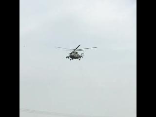 Прикрытие с воздуха. Вертолет Ми-8АМТШ ВКС России в Сирии