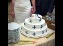 Свадьба в морском стиле. Торт от кондитерской Лакомка