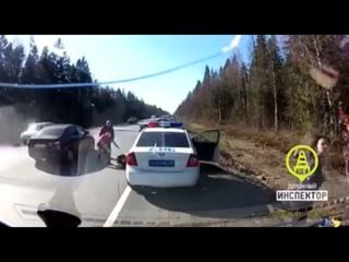 На трассе сбили инспектора полиции дпс